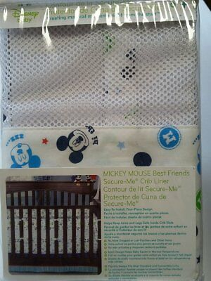 Mickey Mouse Best Friends Secure-Me Crib Liner by Disney Baby *DISCONTINUED*