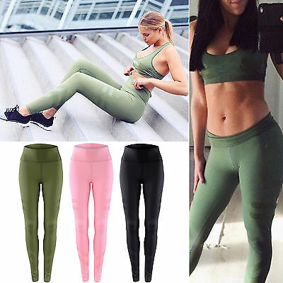 Womens Gym Yoga Running Pants Sports Exercise Leggings Jogging Fitness Trousers