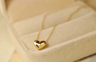 Safety Little Small Heart Pendant Chain Necklace Girls Womens Childrens Kids