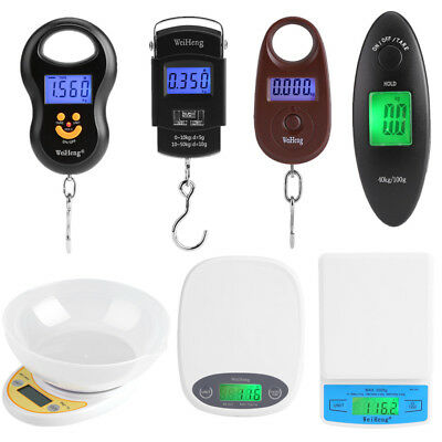 Electronic LCD Mini Kitchen Scale Digital Food Weighing Balance Luggage Scale SS