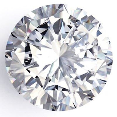 Genuine Loose Moissanite F-G  White Color Round Cut VVS1 1.26 ct 7.35 mm GBP