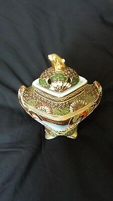satsuma vase with lid 4inch x 4inch