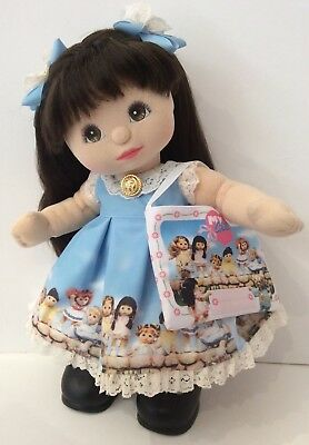 My Child Doll Print Dress OOAK includes Barrettes and Bag *Doll Not Included*