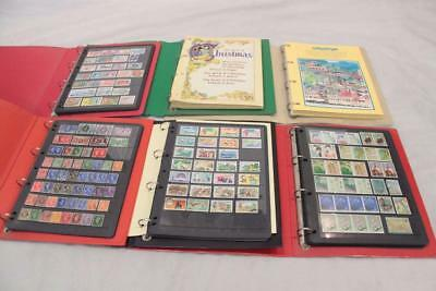 Bulk lot of World Stamp Albums & Stamps Bundle 6 binders Unused Used#13002