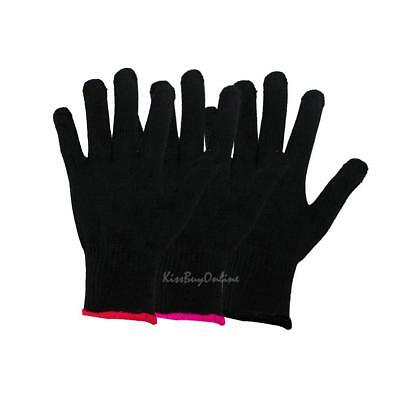 Pro Heat Resistant Glove Hair Styling Tool for Curling Straight Flat Iron Black
