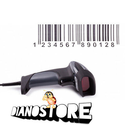 Lettore Codice A Barre Barcode Scanner Pistola Laser Scanner Usb Windows Mac