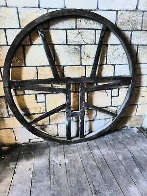 Church Bell Wheel - made of oak and ash - antique. Superb condition