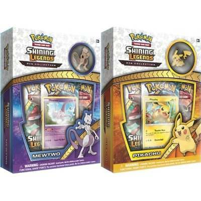 POKEMON SHINING LEGENDS * Pin Box Bundle of 2 (Mewtwo and Pikachu) *PRE-ORDER*