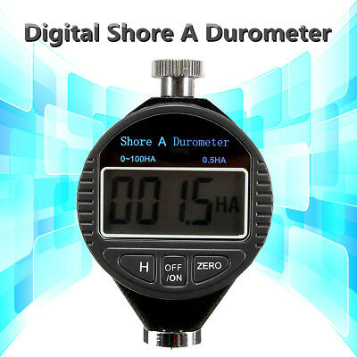0~100HA Digital Shore A Hardness Durometer Tester Tire Rubber LCD Display Meter