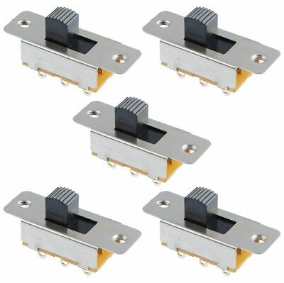 5 x On-On Slide Switch DPDT 1.5A
