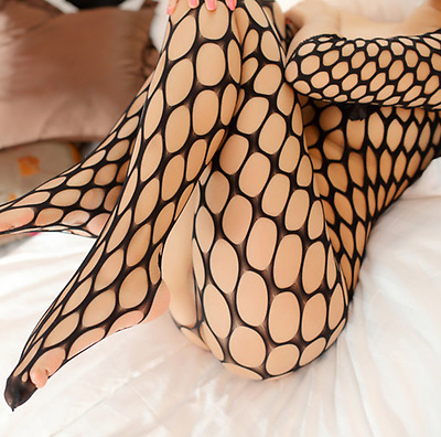 Sexy Women Hollow out Bodystocking Fishnet Lingerie Underwear Babydoll Size 6-12