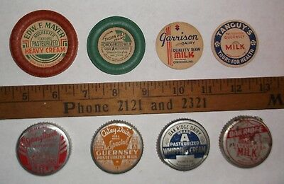 vintage Milk Bottle Cap Lot - Indiana Locations