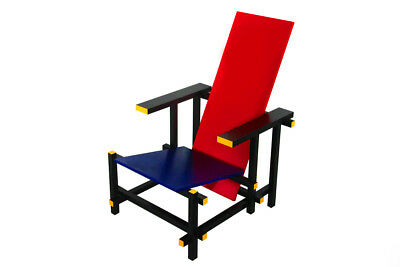 Cassina Le Corbusier red and blue Stuhl