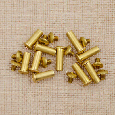 Straight Razor Fillister Hexagon Head Bolt Knife Handle Screw Cultery Brass 5Pcs