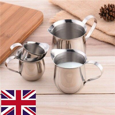 UK!Stainless Steel Small Milk Cup Condensed Coffee Cream Waist Shape Cup Jug
