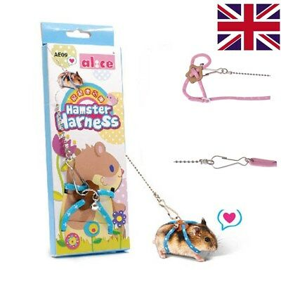 Small Animal Leash Rope For Hamster Mouse Squirrel Sugar Glider Harness Leash-UK