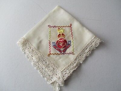 Ww1 Sweetheart Embroidered Silk Handkerchief - Royal Regiment - Lancashire ??