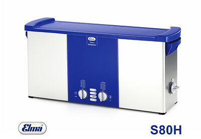 Elma Sonic S80 H Ultrasonic Cleaner with Heating 9,4 ltr. Bath of
