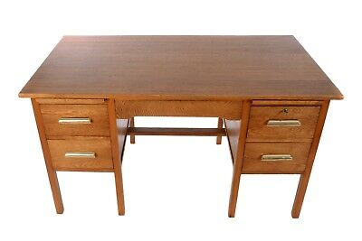 1950's oak Desk. Restored Condition.