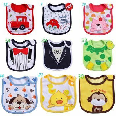 Cotton Baby Bib Infant Saliva Towels Baby Waterproof Bibs Newborn Wear Cartoon A