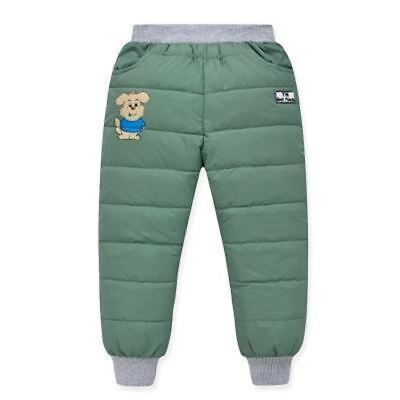 High Waist Boys and Girls Pants Thermal Kids Trousers Warm Thicken Down Pant Win