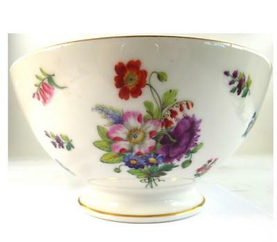 Antique French Old Paris Porcelain Bowl Hand Painted With Flowers