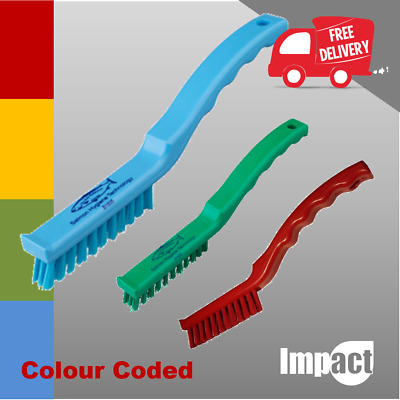 STIFF DETAIL BRUSH blue red green yelow Cleaning Difficult To Access Area