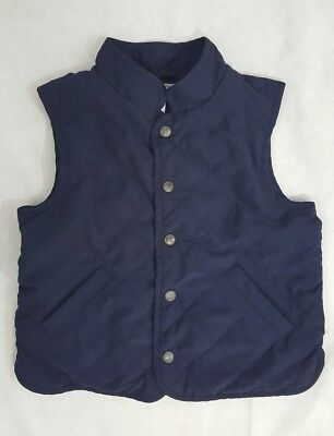 Janie and Jack Vest Boys Size 4 Snap front quilted front pockets fall