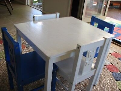 Ikea Children's White Kritter Table and 4 chairs