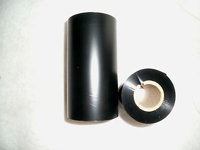 10 CARBON BAND Thermal Transfer Foil 110mm x 300m Wax Black Outside