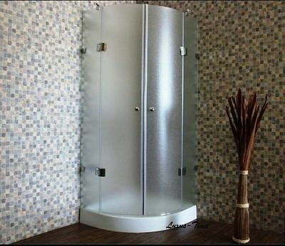 Shower cubicle, Shower partition, Quarter circle Glass cabin New JN-1090