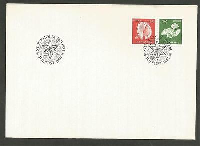 SWEDEN - 1981 Christmas Mail  -  F.D. COVER.
