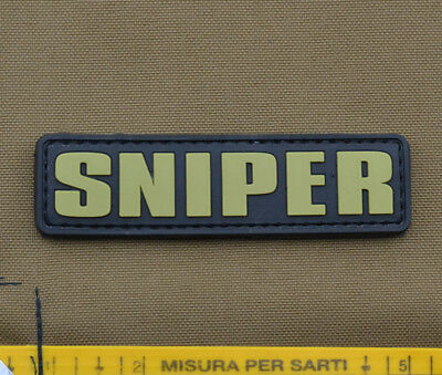 """PVC / Rubber Patch """"SNIPER Tab"""" with VELCRO® brand hook"""