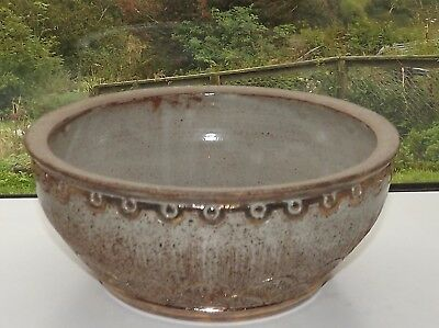 Black Mountain Studio Pottery Wales Hand Made Salad / Fruit Bowl 25cm