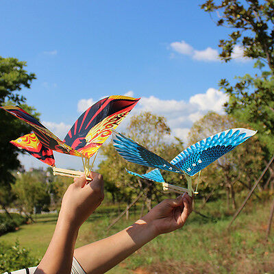 10Pcs Rubber Band Elastic Powered Glider Flying Birds DIY AirPlane Kids Toy Gift