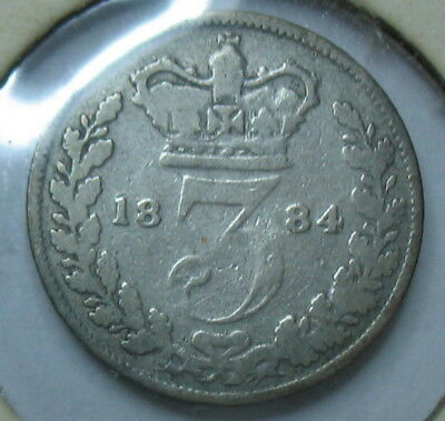 1884 3 Pence Maundy. Great Britain. SILVER