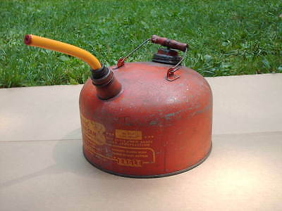 Vintage Eagle 2-1/2 Gallon Metal Galvanized Gas Can Wood Handle