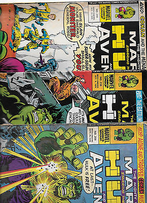Mighty World of Marvel issues 209-211 featuring Hulk and the Avengers Marvel UK
