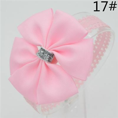 Baby girl hair bowknot ribbon Headband  newborn toddler bow flower Hair Band Han