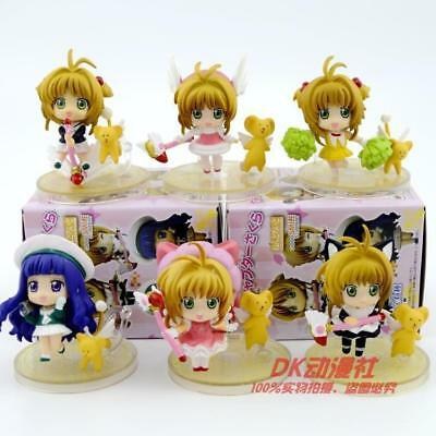 card captor sakura open eye set of 8pcs PVC figure figures manga doll toys