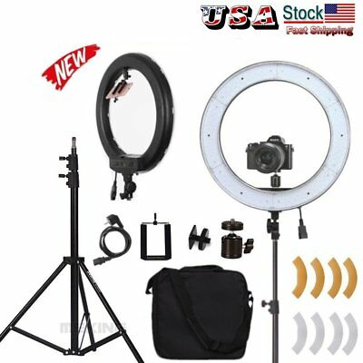 "US 18"" 50W Dimmable Diva 240pcs LED Adjustable Ring Light with Diffuser, Stand"