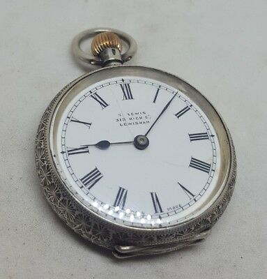 Quality Antique solid silver Omega pocket watch c1900 working
