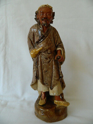 CHINESE SANCAI SHIWAN ROBED FIGURE OF SAGE late Qing/Republican Period