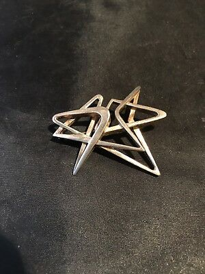 Sterling Silver Modern Design Pin.