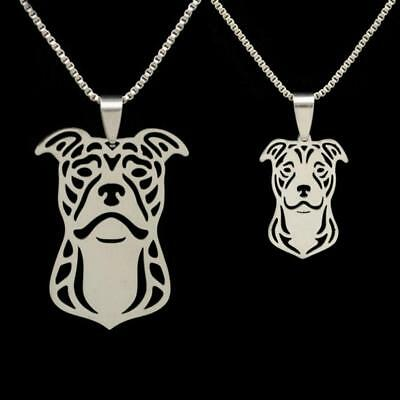 PITBULL NECKLACE Stainless Steel Dog Charm Pendant NEW American Pit Bull Terrier
