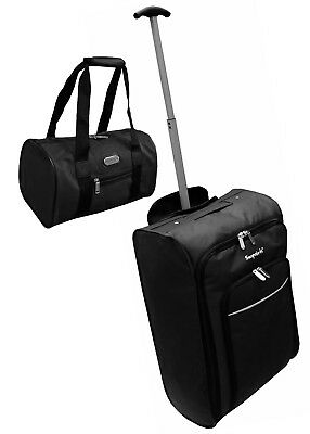 Cabin Approved wheeled hand luggage bag / additional Personal small Bag black