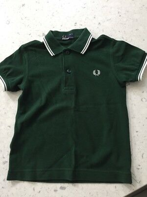 Fred Perry Boys Green T Shirt Age 4-5 years