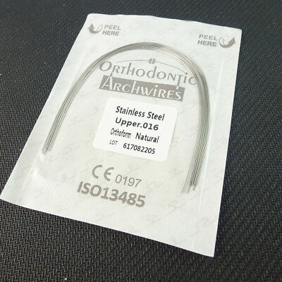 2packs EASYINSMILE Orthodontic Braces Arch Wire Teeth Wires 012 upper&lower