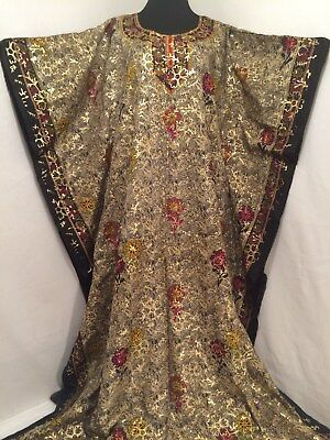 Kaftan made in India Ethnic Dress Gown Coverup size 2XL Black Gold Red