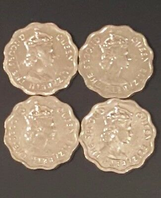 BELIZE 2012 CENT, KM33a, ALUMINUM, LOT OF 4, BR UNC, BUSINESS, FREE SHIPPING